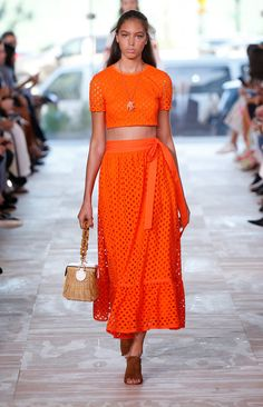 A runway look from the Tory Burch Spring/Summer 2017 Fashion Show #ToryBurchSS17 #nyfw