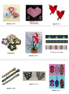 Heart and Flower - Valentines Beading Patterns featured in Bead-Patterns.com Newsletter!