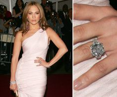 Pin for Later: Ogle the Most Massive Celebrity Engagement Rings Jennifer Lopez Marc Anthony gave Jennifer Lopez a million, rock when he proposed marriage in They were together for 10 years. Celebrity Rings, Celebrity Engagement Rings, Celebrity Jewelry, Best Engagement Rings, Celebrity Weddings, Celebrity Couples, Jennifer Lopez Marc Anthony, Most Expensive Engagement Ring, Engagement Ring Pictures