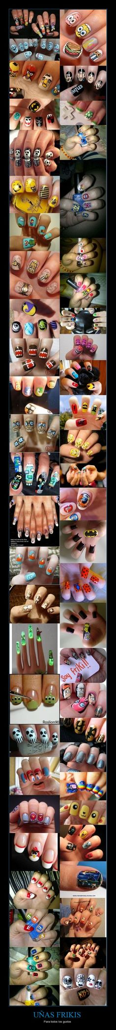 No idea wat this says but I wish I could do nails like this