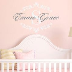 S Name Decal Initial Monogram Wall Baby Nursery Bedroom Decor Vinyl By Fleurishwalls On