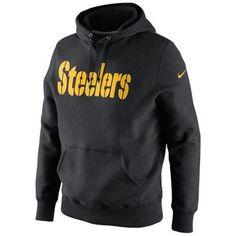d33f2b105 Mens Nike Pittsburgh Steelers Classic Authentic Font Hoodie Sweatshirt Black
