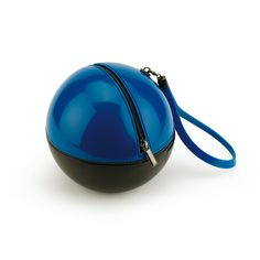 """Rock'n'Ball"" sphere handbag in two colour bright PVC"