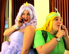 Lumpy Space Princess + Turtle Princess Cosplay