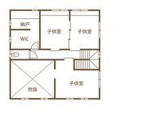 窓を開け放てば、心地よい風。 自由で爽快な西海岸スタイル。 (株)ビルド (香川県仲多度郡多度津町) - 香川の家 Floor Plans, House, Home, Homes, Floor Plan Drawing, Houses, House Floor Plans