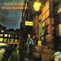 David Bowie - The Rise and Fall of Ziggy Stardust and The Spiders From Mars album cover art by Brian Ward, 1972