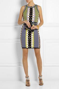 Versace Stretch Knit Mini Dress Net A Porter Com