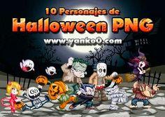 Personajes de Halloween (10 PNG) ~ Photoshop Facil