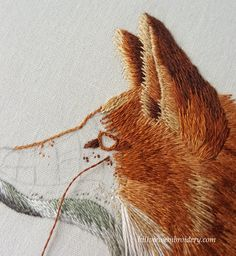 split stitch around the eye before satin stitching