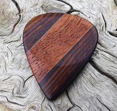 Handmade Premium Quality Multi-Wood Guitar Pick  Actual Pick