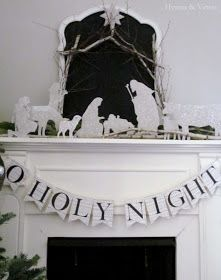 A DIY Nativity using chipboard, online silhouettes, and glitter