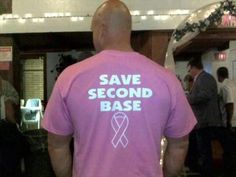 Breast cancer t-shirt for men