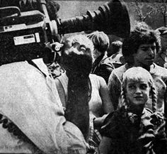 Susan Olsen glances at the cameraman during the filming of a Brady Bunch episode at Kings Island in 1973.