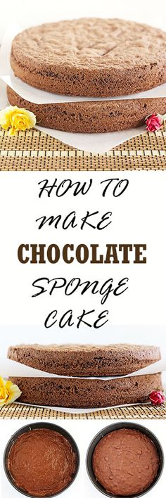 Chocolate Sponge Cake is also known as Chocolate biskvit. It is very similar to … Chocolate Sponge Cake is also known as Chocolate biskvit. Sponge cake layers that can serve as a base for many different chocolate cake recipes or desserts. Sponge Recipe, Sponge Cake Recipes, Fondant Recipes, Fondant Tips, Frosting Recipes, Chocolate Sponge Cake, Chocolate Desserts, Chocolate Fondant, Chocolate Cupcakes
