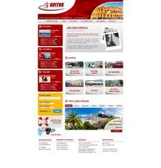 Avitur   Menu strona www, website, template, biuro podróży, travel agency Drupal, Photoshop, Website