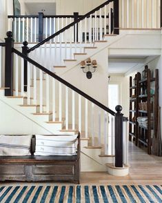 Traditional style, black painted rail