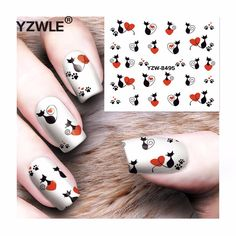 [Visit to Buy] YZWLE 1 Sheet DIY Decals Nails Art Water Transfer Printing Stickers Accessories For Manicure Salon  YZW-8495 #Advertisement