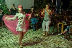Dancing at Surf Bar in Side,Turkey