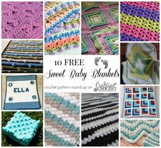 Crochet Baby Blanket Round Up