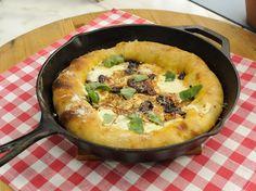 Stuffed Crust Cast-Iron Pizza with Smoked Mozzarella