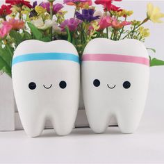 New Fashion Jumbo Teeth Soft Squeeze Cute Cell Phone Strap Bread Cake  Toy Gift Pendant Teeth dolls Big tooth Color Random