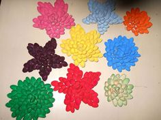 Pistachio Shell Flowers