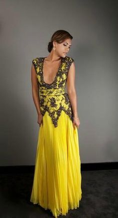 Chagoury Couture Spring/Summer 2012 Yellow Gown