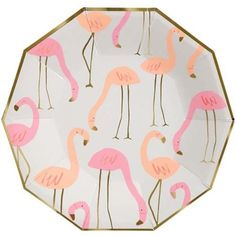 Super stylish and pretty flamingo plates. Shop our huge range of meri meri party supplies with express delivery. A flock of exotic pink flamingos are featured in the pattern of these stunning party plates. The plates are embellished with shiny gold foil. Flamingo Party Supplies, Pink Flamingo Party, Pink Flamingos, Coral Party, Flamingo Birthday, Pony Party, Sweet Party, Party Set, Table Party