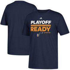 b84096e7f7d Utah Jazz adidas 2017 NBA Northwest Division Champions Locker Room Playoff  Ready T-Shirt - Navy