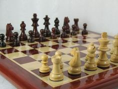 Staunton Chess Set Bud Rose Wood Chess Board 14 inches chessbazaar 20% OFF coupon code CHESS2014