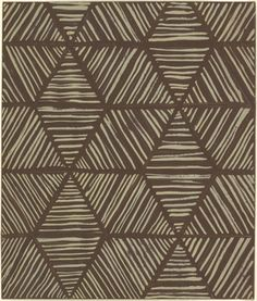 Drawing, Textile Design: Striped Hexagonal Forms, 1930s