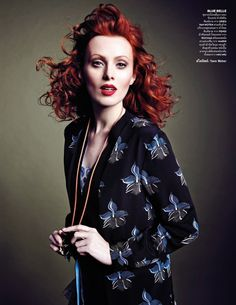 Karen Elson by Marcin Tyszka for Vogue Tailândia March 2015