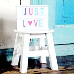 #Symbolen en #letters #pastel - #Lightbox #letter set - #ALittleLovelyCompany #interior #decoration #alphabet #littlethingz2