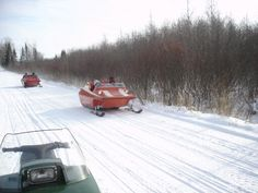 Tamarack to Lawler, MN vintage snowmobile run