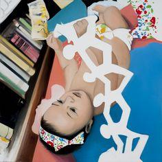 Maya, 100x100cm, oil, canvas 2011, by Viktoria Szunyoghy