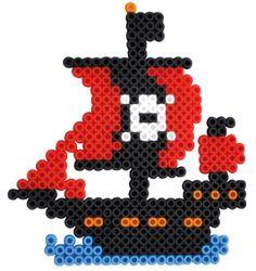Pirate ship perler beads
