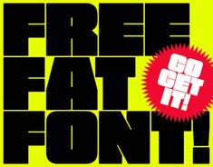"""Check out new work on my @Behance portfolio: """"FREE FAT FONT!!!"""" http://be.net/gallery/66274267/FREE-FAT-FONT"""