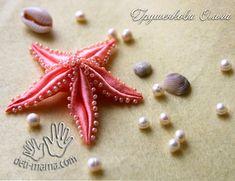 Starfish of satin ribbons