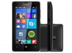 "Smartphone Microsoft Lumia 532 Dual Sim DTV 3G - Windows Phone 8.1 Câm. 5MP Tela 4"" Proc. Quad Core"