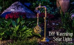 DIY Waterdrop Solar Lights - The Navage Patch-Add some magic to your garden this summer with these DIY Waterdrop Solar Lights! This is a fun and easy project that will make you smile every night!