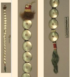Comanche hairplates, coll. by Dr. Palmer before 1868.  NMNH ac