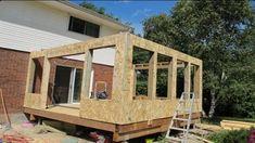 Screened In Porch Diy, Screened Porch Designs, Enclosed Porches, Sunroom Dining, Small Sunroom, Porch To Sunroom Conversion, Sunroom Kits, Patio Enclosures, Diy Patio Enclosure Ideas