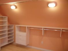 Maybe A Solution For My Slanted Roof Closet Storage Systems Organization