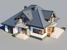 Flat House Design, House Roof Design, House Outside Design, Small House Interior Design, Village House Design, Indian Home Design, Home Design Floor Plans, Home Building Design, Tyni House