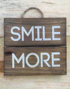 Smile More Inspirational Pallet Sign