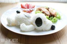 El Snoopy más original hecho de arroz. #recetas #divertidas #ideas