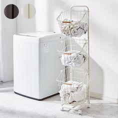 ワイヤーバスケット 3段 洗濯かご キャスター付き ランドリーラック ランドリーボックス ランドリーバスケット バスケット :9t-n9-kw34:リコメン堂インテリア館 - 通販 - Yahoo!ショッピング Washing Machine, Laundry, Home Appliances, Tokyo Home, Shopping, Laundry Room, House Appliances, Laundry Service, Kitchen Appliances