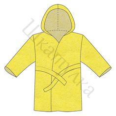 Выкройка детского махрового халата с капюшоном, р-р 86, 98