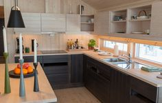 Modular Furniture, Kitchen Cabinets, Cottage, Architecture, Interior, Table, Home Decor, Cooking, Modern