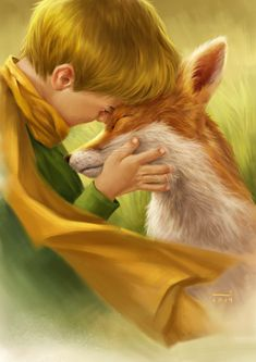 """""""You become responsible, forever, for what you have tamed. Fox Drawing, Painting & Drawing, Realistic Drawings, Art Drawings, Prince Drawing, Fuchs Tattoo, Little Prince Fox, Prince Tattoos, Mythical Creatures Art"""